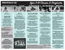 Arts Ballet Academy Students Proposed Schedule 2015-2016